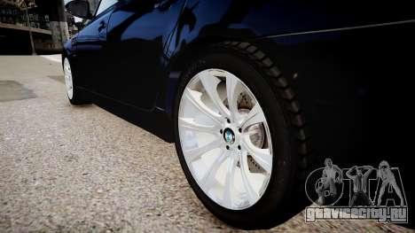 BMW M5 e60 для GTA 4 вид сзади