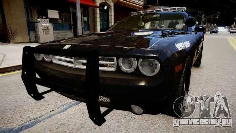 Dodge Challenger Liberty Sheriff 2010 для GTA 4 вид справа