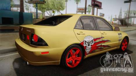 Lexus IS300 NFSMW05 PJ для GTA San Andreas вид слева