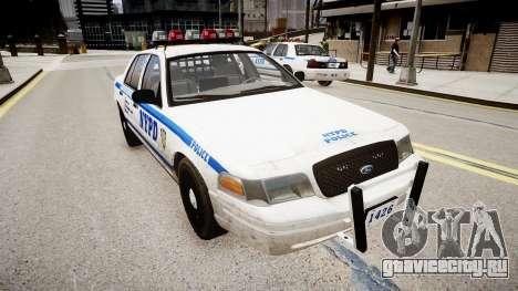 Ford Crown Victoria Police In 2009 для GTA 4 вид справа