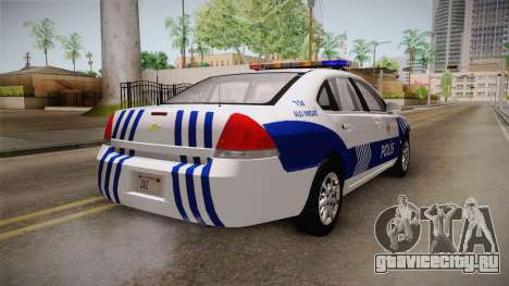 Chevrolet Impala Turkish Police для GTA San Andreas вид слева