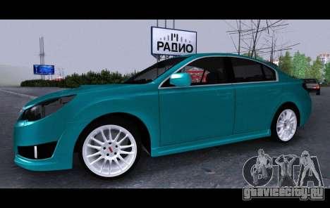 Subaru Legacy B4GT 2010 для GTA San Andreas вид справа