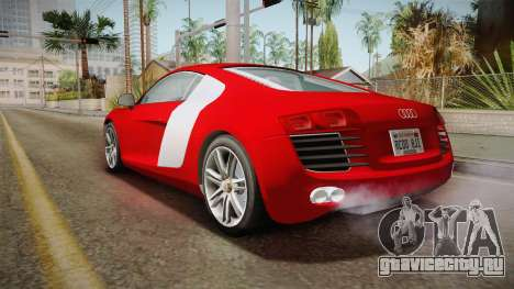 Audi Le Mans Quattro 2005 v1.0.0 YCH Dirt для GTA San Andreas вид сзади слева