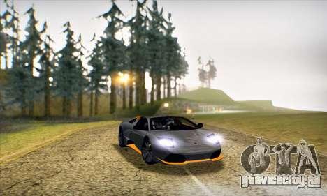 Lamborghini Murcielago LP650-4 Roadster (IVF) для GTA San Andreas вид изнутри