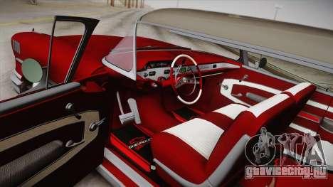 Chevrolet Impala Sport Coupe V8 1958 IVF для GTA San Andreas вид сбоку