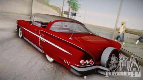Chevrolet Impala Sport Coupe V8 1958 IVF для GTA San Andreas вид слева