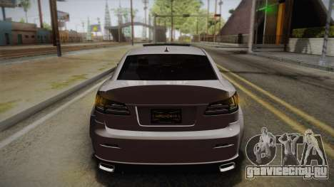 Lexus IS F 2009 Hachiraito для GTA San Andreas вид сверху
