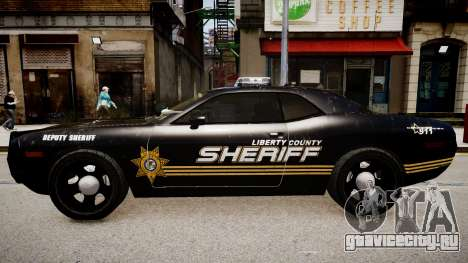 Dodge Challenger Liberty Sheriff 2010 для GTA 4 вид слева