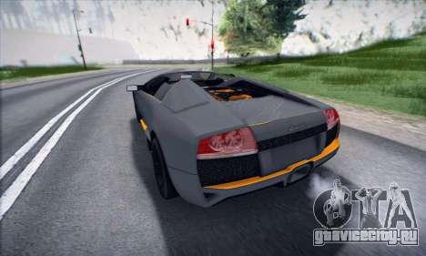 Lamborghini Murcielago LP650-4 Roadster (IVF) для GTA San Andreas вид слева