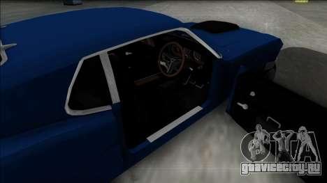 1970 Ford Mustang Boss 429 для GTA San Andreas вид сзади слева