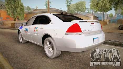 Chevrolet Impala LTZ 2008 Drivetek для GTA San Andreas вид слева
