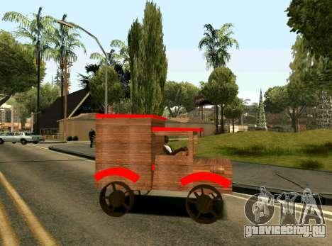 Wooden Toy Truck для GTA San Andreas вид слева