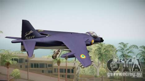 Sea Harrier White Tigers Squadron Indian Navy для GTA San Andreas вид слева