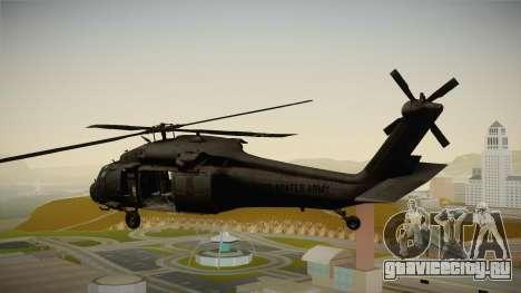CoD 4: MW - UH-60 Blackhawk US Army Remastered для GTA San Andreas вид слева