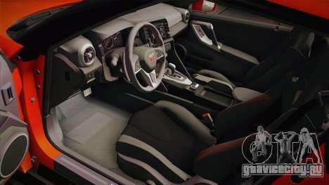 Nissan GT-R Premium 2017 для GTA San Andreas вид изнутри