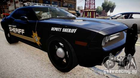Dodge Challenger Liberty Sheriff 2010 для GTA 4