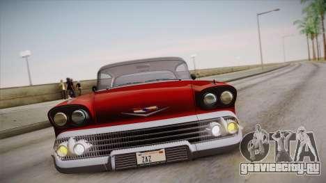 Chevrolet Impala Sport Coupe V8 1958 IVF для GTA San Andreas вид сверху