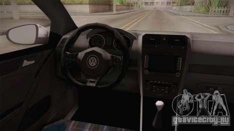 Volkswagen Golf Mk6 Police для GTA San Andreas вид сзади