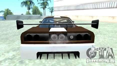 Infernus GT2 для GTA San Andreas вид сзади слева