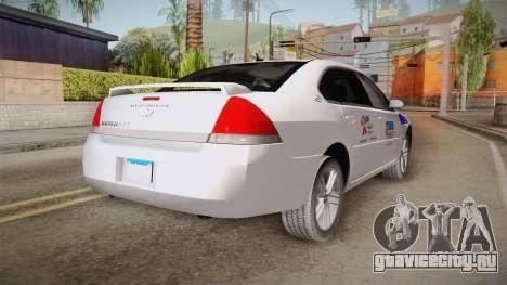 Chevrolet Impala LTZ 2008 Drivetek для GTA San Andreas вид сзади слева