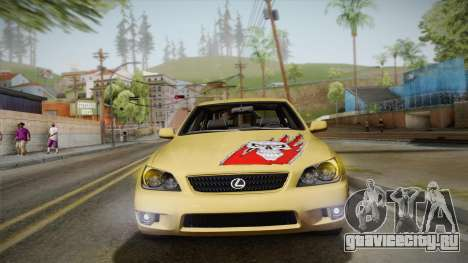 Lexus IS300 NFSMW05 PJ для GTA San Andreas вид изнутри