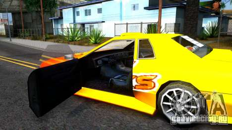 Elegy Paintjob DriftWorks для GTA San Andreas вид изнутри