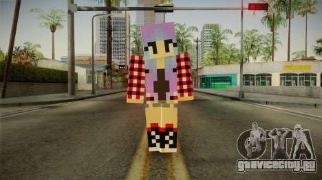 Minecraft Gamer Girl (Normal Maps) для GTA San Andreas второй скриншот