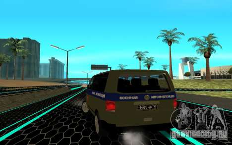 Volkswagen Transporter для GTA San Andreas вид сзади слева