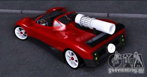 Pagani Zonda Revolucion 2016 для GTA San Andreas вид слева