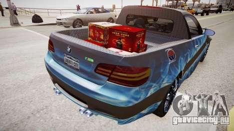 BMW M3 Pickup для GTA 4 вид справа