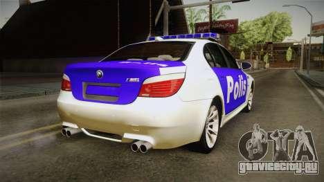 BMW M5 E60 Police для GTA San Andreas вид слева