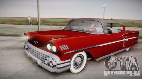 Chevrolet Impala Sport Coupe V8 1958 IVF для GTA San Andreas