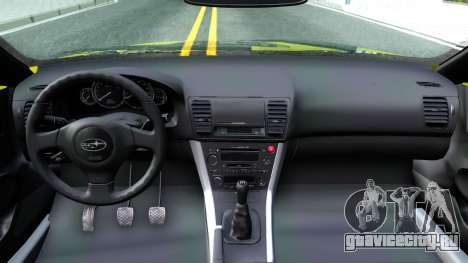 Subaru Legacy Touring Wagon 2003 для GTA San Andreas вид изнутри