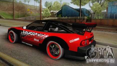 Nissan 180SX Drift для GTA San Andreas вид слева