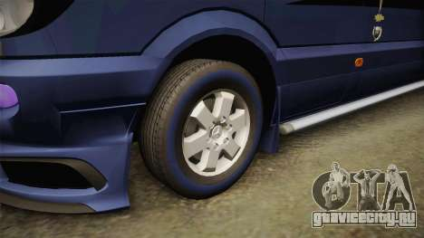 Mercedes-Benz Sprinter для GTA San Andreas вид сзади