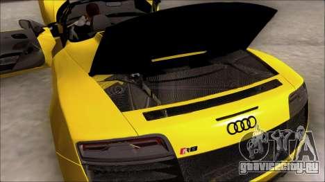Audi R8 Spyder 5.2 V10 Plus для GTA San Andreas вид сбоку