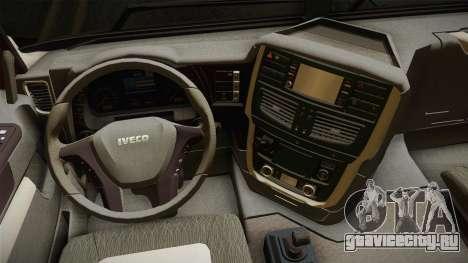Iveco Trakker Hi-Land 6x4 Cab Low v3.0 для GTA San Andreas вид изнутри
