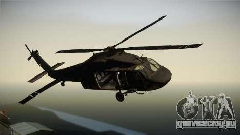 CoD 4: MW - UH-60 Blackhawk US Army Remastered для GTA San Andreas вид сзади слева