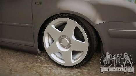 Volkswagen Golf Mk4 GTI для GTA San Andreas вид сзади