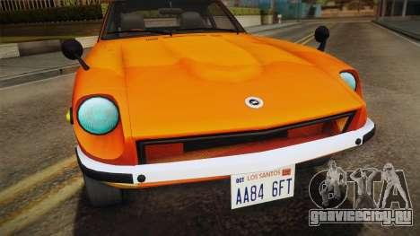 Nissan Fairlady Z 432 1969 для GTA San Andreas вид справа