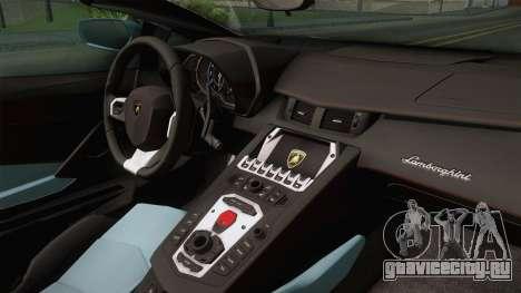 Lamborghini Aventador LP700-4 Roadster 2013 v2 для GTA San Andreas вид сзади