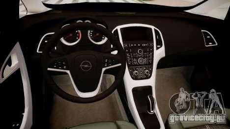 Opel Astra Sports Tourer 2011 для GTA 4 вид изнутри