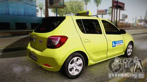 Dacia Sandero 2016 TOP SPEED для GTA San Andreas вид слева