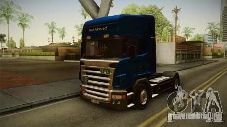 Scania V8 для GTA San Andreas вид справа