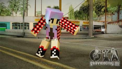 Minecraft Gamer Girl (Normal Maps) для GTA San Andreas