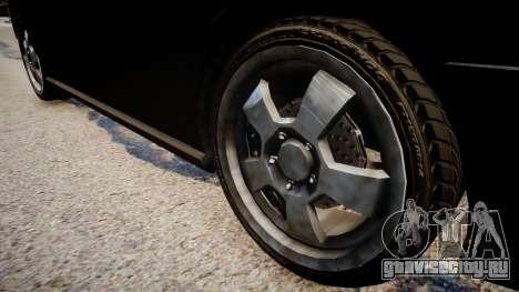 NYPD Police Dodge Charger для GTA 4 вид сзади