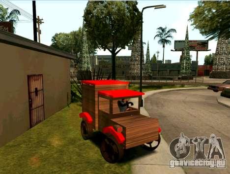 Wooden Toy Truck для GTA San Andreas вид сзади слева