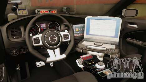 Dodge Charger 2013 SA Highway Patrol v1 для GTA San Andreas вид изнутри