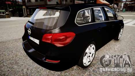 Opel Astra Sports Tourer 2011 для GTA 4 вид сзади слева
