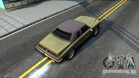 Idaho SA style для GTA San Andreas вид сзади
